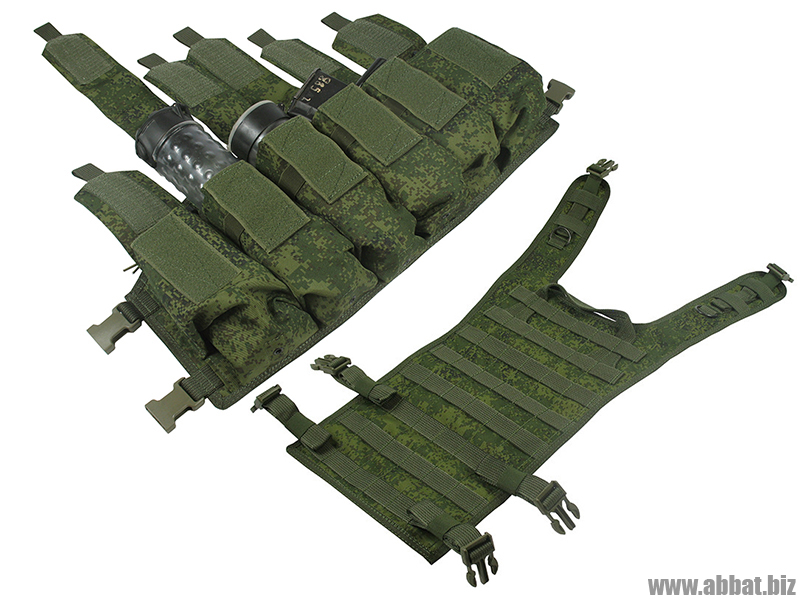 M.O.L.L.E. Chest Rig Bizon. ВАРИАНТ КОМПЛЕКТАЦИИ №2 (ЕМР-лето, rus cifra)